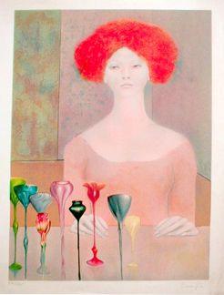 Leonor Fini, Femme aux Coupes, 1960s (lithograph)