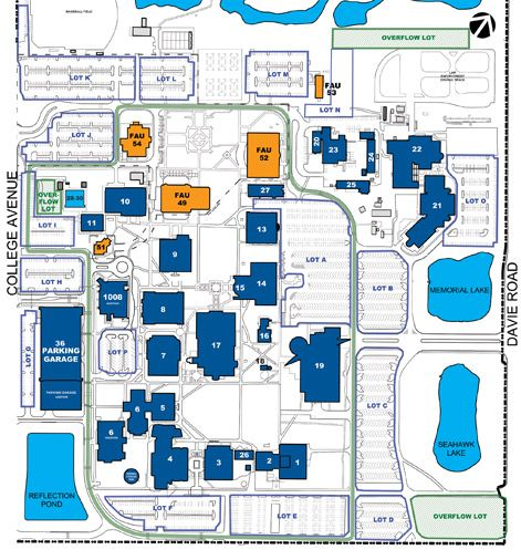 bc central campus map Broward College A Hugh Adams Central Campus Map Campus Map bc central campus map
