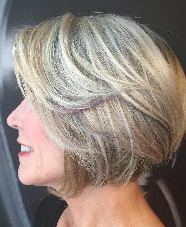 Blonde Balayage Bob For Older Women Haircut For Older