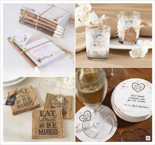 Mariage rustique cadeaux invit s bloc note photophore en verre dessous verre corce mariage - Cadeaux invites mariage fait maison ...