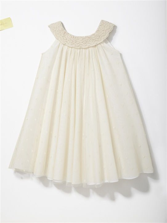 robe de c r monie fille collier tulle creme et voile ivoire shop babies toddlers