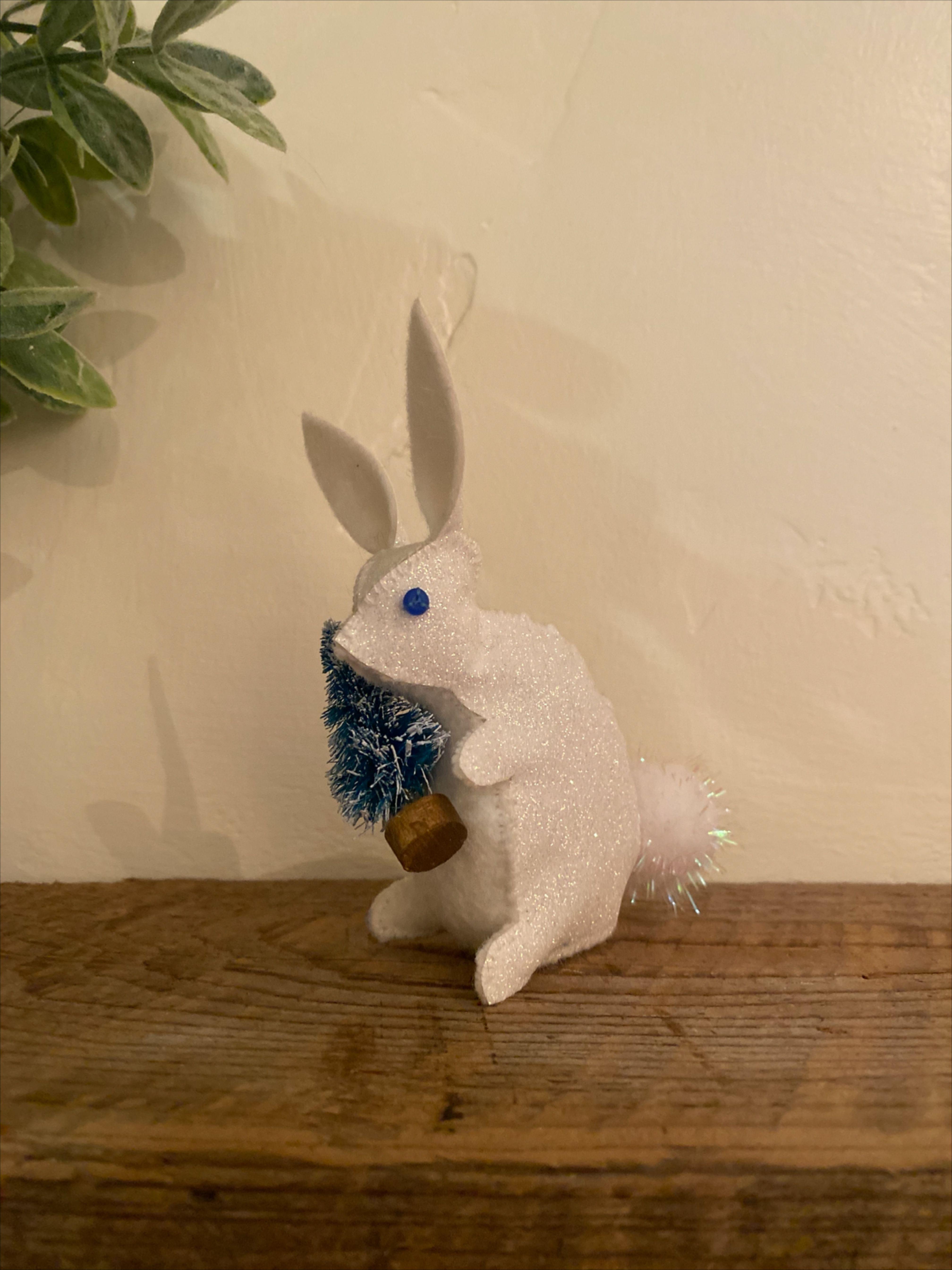 Snow Bunny in 2020 Crafts, Soft sculpture, Ornament decor