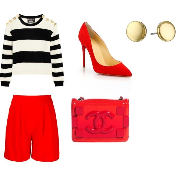 Untitled #189 by campbell765 on Polyvore featuring polyvore, fashion, style, Boutique Moschino, Andrea Marques, Christian Louboutin, Chanel and Lauren Ralph Lauren