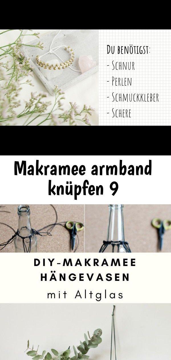 Makramee armband knüpfen 9 #wanddekoselbermachen