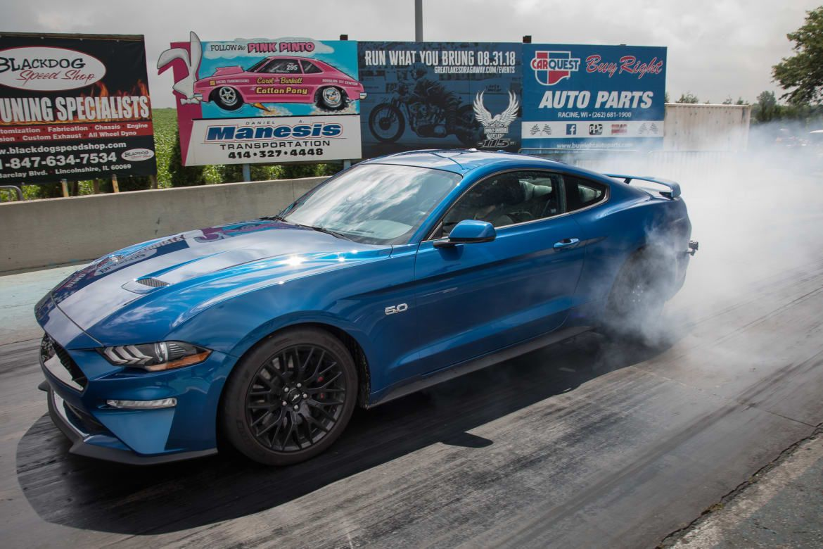 2018 Ford Mustang Gt Pp1 Vs 2019 Dodge Challenger R T Scat Pack 1320 Drag Strip Tested Ford Mustang Gt Mustang Ford Mustang Shelby