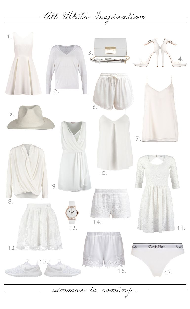 All White Inspiration <3 http://monasdailystyle.fitfashion.fi/2015/05/24/all-white-inspiration/