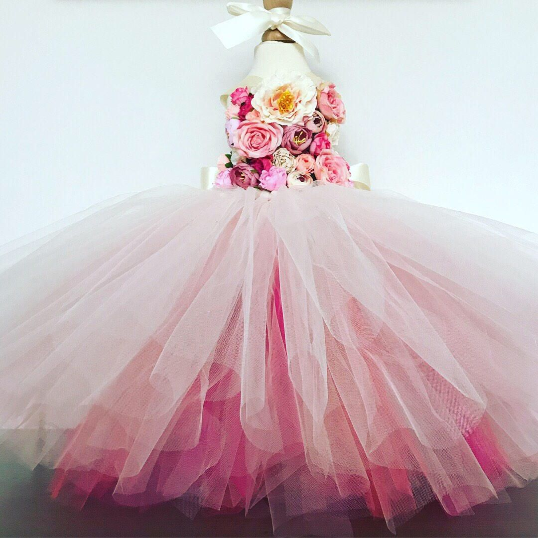 33f9a9dd7cc38 Girls PRIMROSE flowergirl tutu dress, Unicorn tutu dress, pink ...