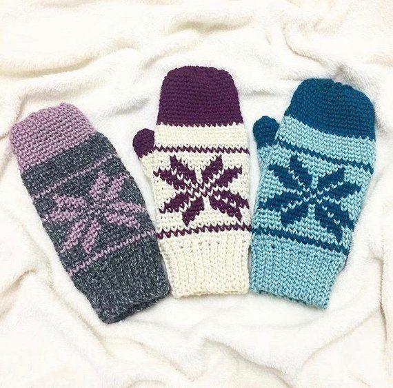 2a52ae33 Ice-Kissed Mittens Crochet Pattern PDF DIGITAL DOWNLOAD, crochet ...