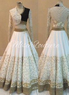 df30bcb9b7 Buy Attractive White Net & Georgette Lehenga Choli.. | Lahengas ...