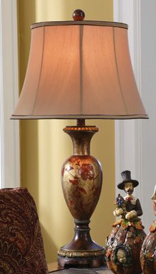 Jayme Antique Finish Haind-painted Table Lamp w/ Shade