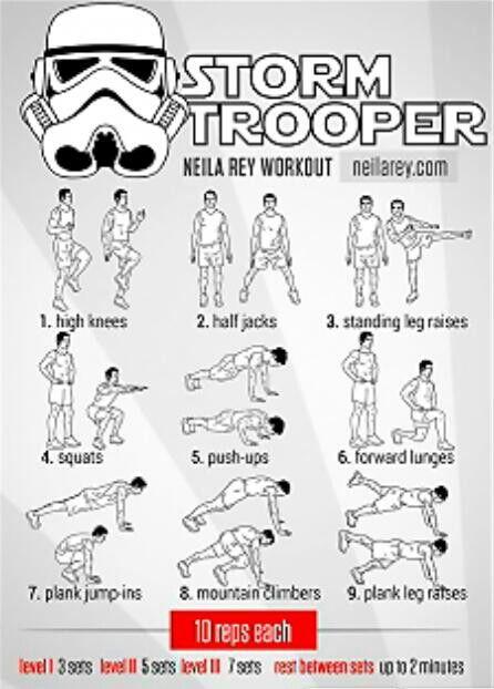 Storm truper workout