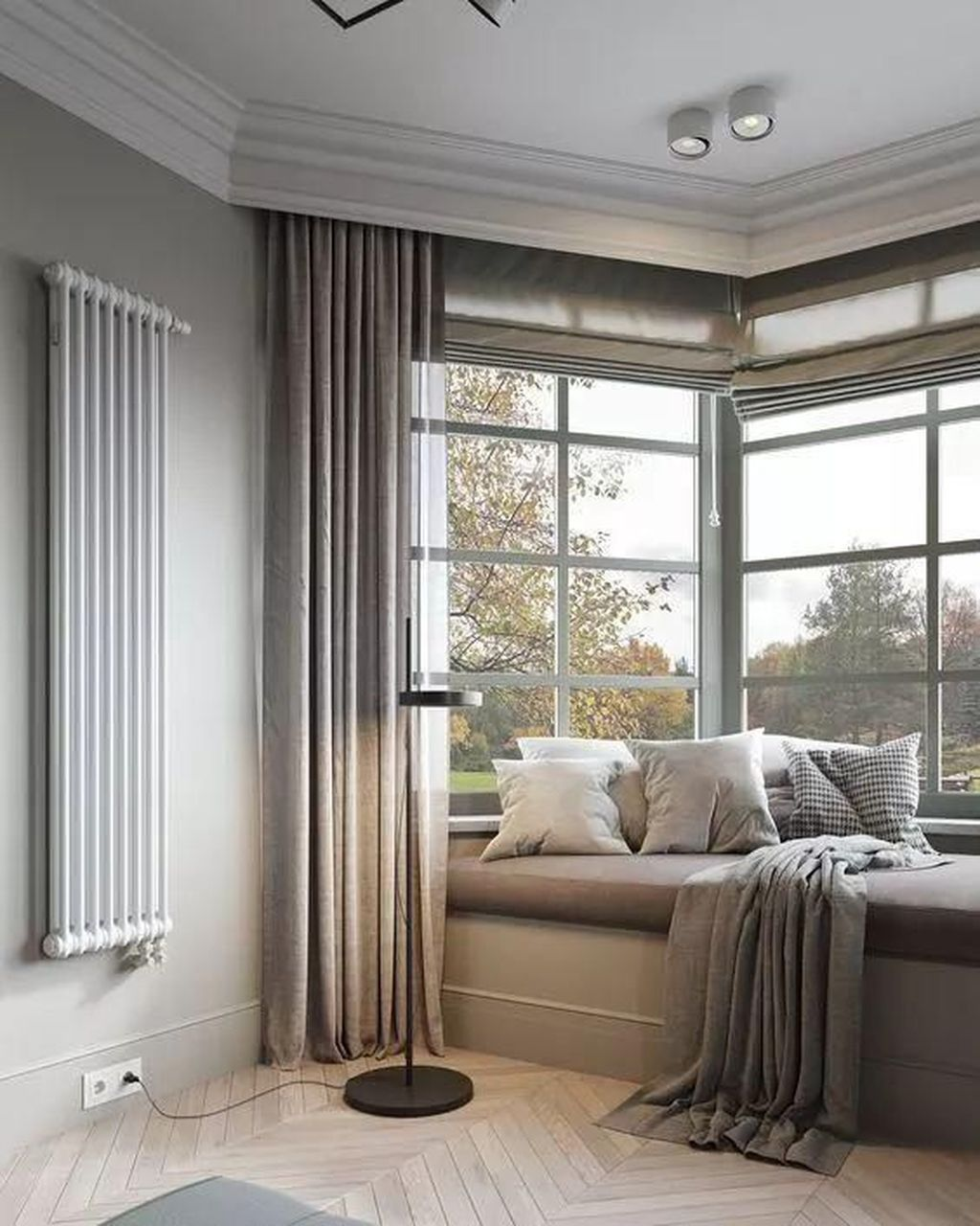 Bay Window Seat For A Lovely Addition: 48 Impressive Bow Window Design Ideas That Have An In 2020