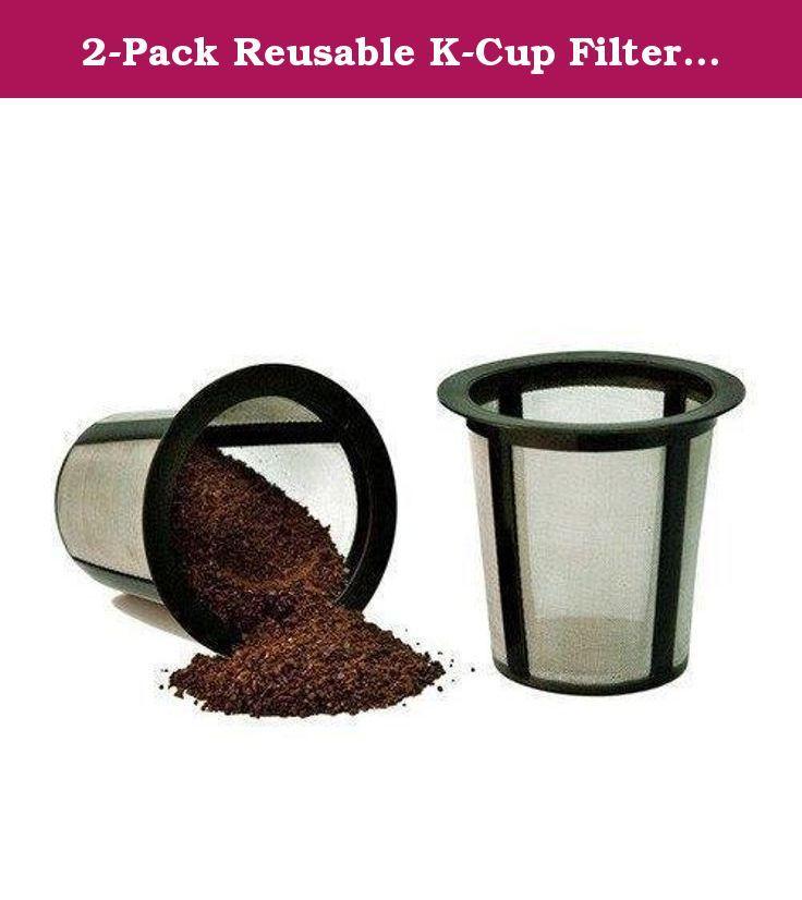 2Pack Reusable KCup Filter Basket for Keurig My