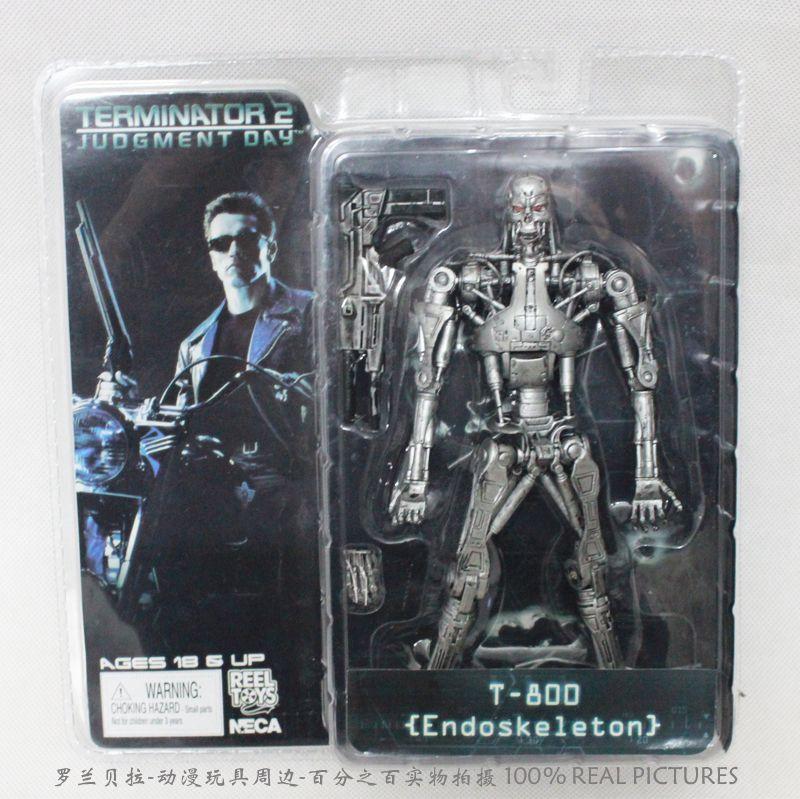 "NECA TERMINATOR 2 Judgment Day T-800 Endoskeleton 7/"" Action Figure"