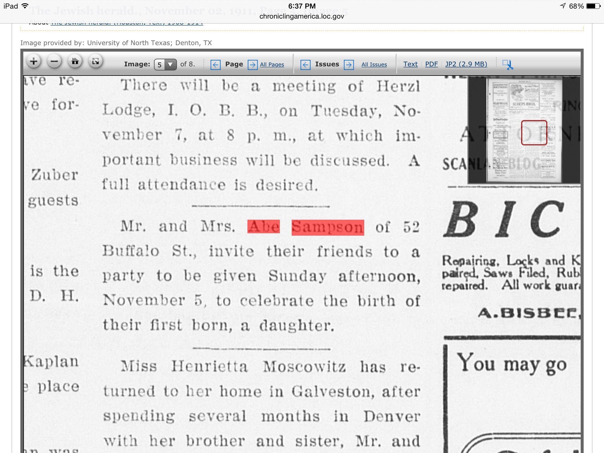 The jewish herald november 02 1911 page 5 image 5