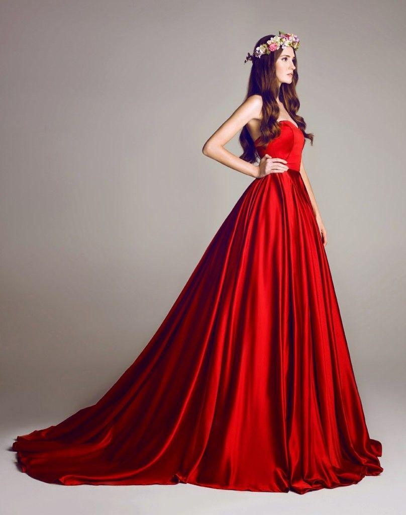 Nişanlık Kırmızı Abiye Modelleri