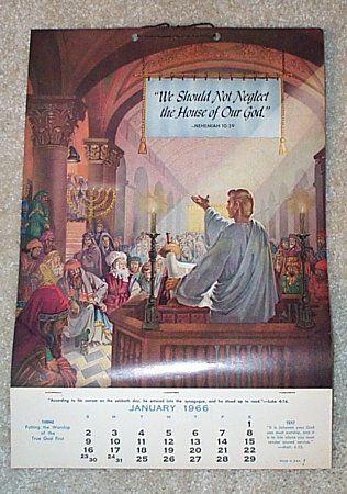 JW Calendar 1966 | JW_CALENDARS | Bible promises, Jehovah's