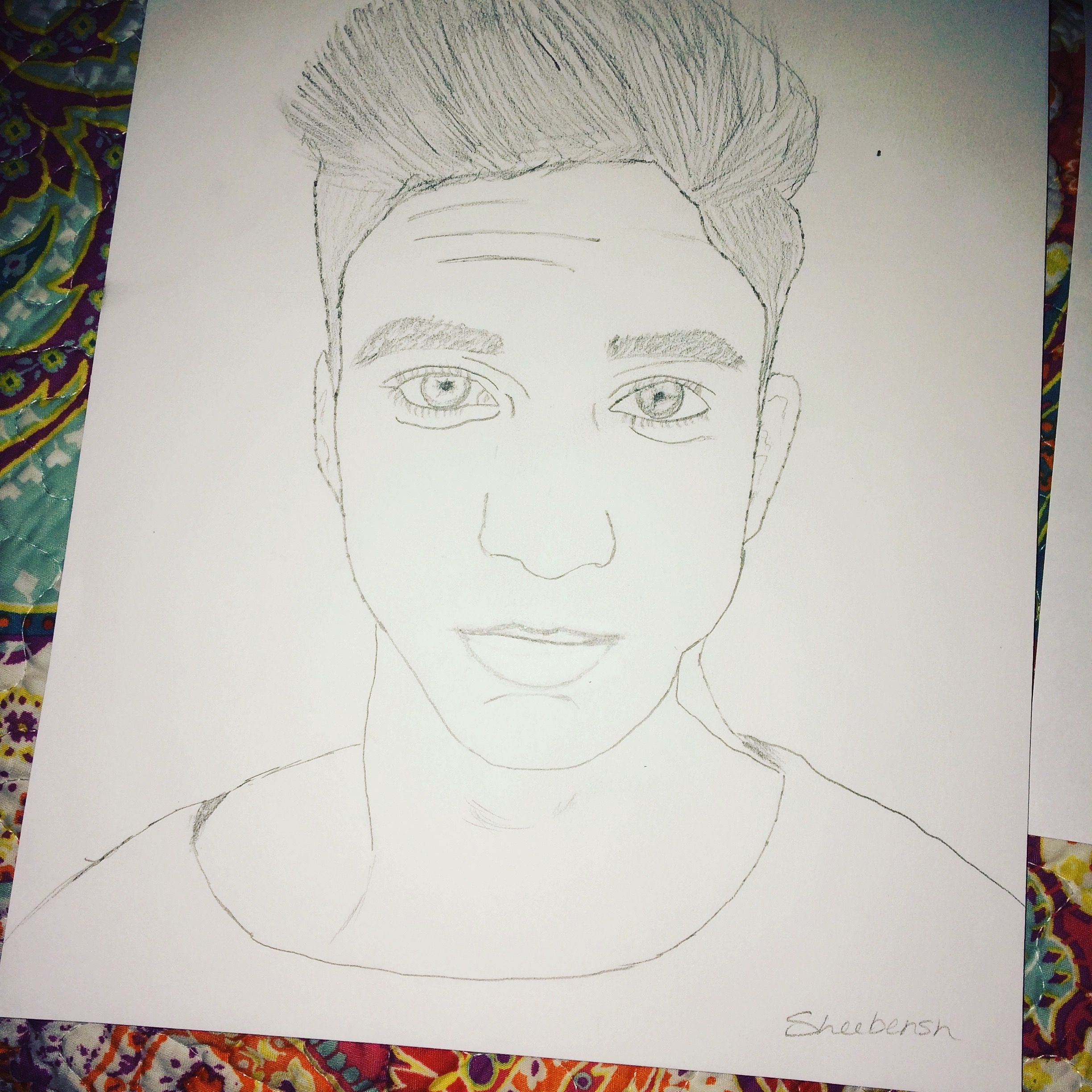 It is a graphic of Sassy Daniel Seavey Drawing