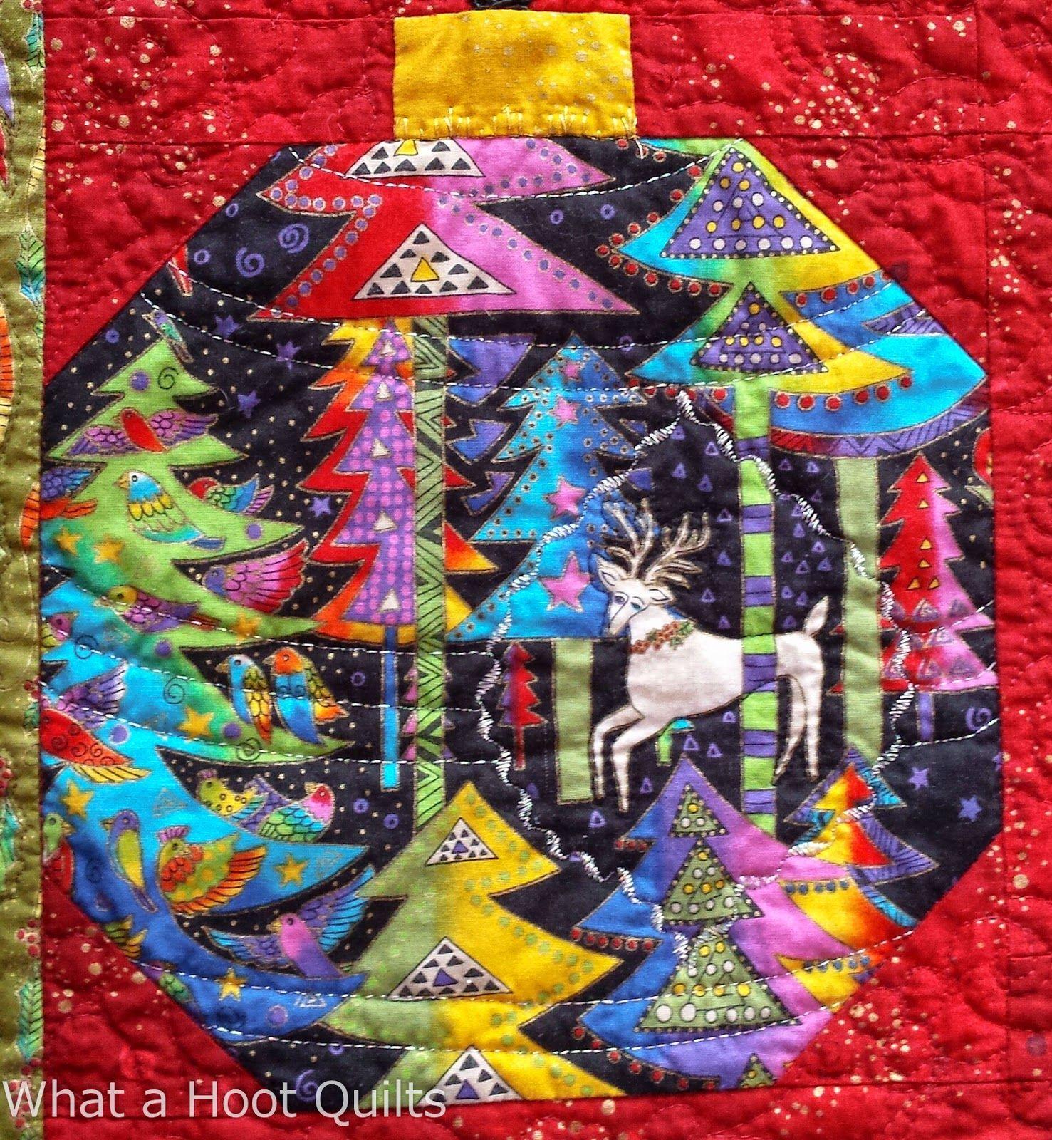 Laurel Burch ornament quilt at What a Hoot Quilts