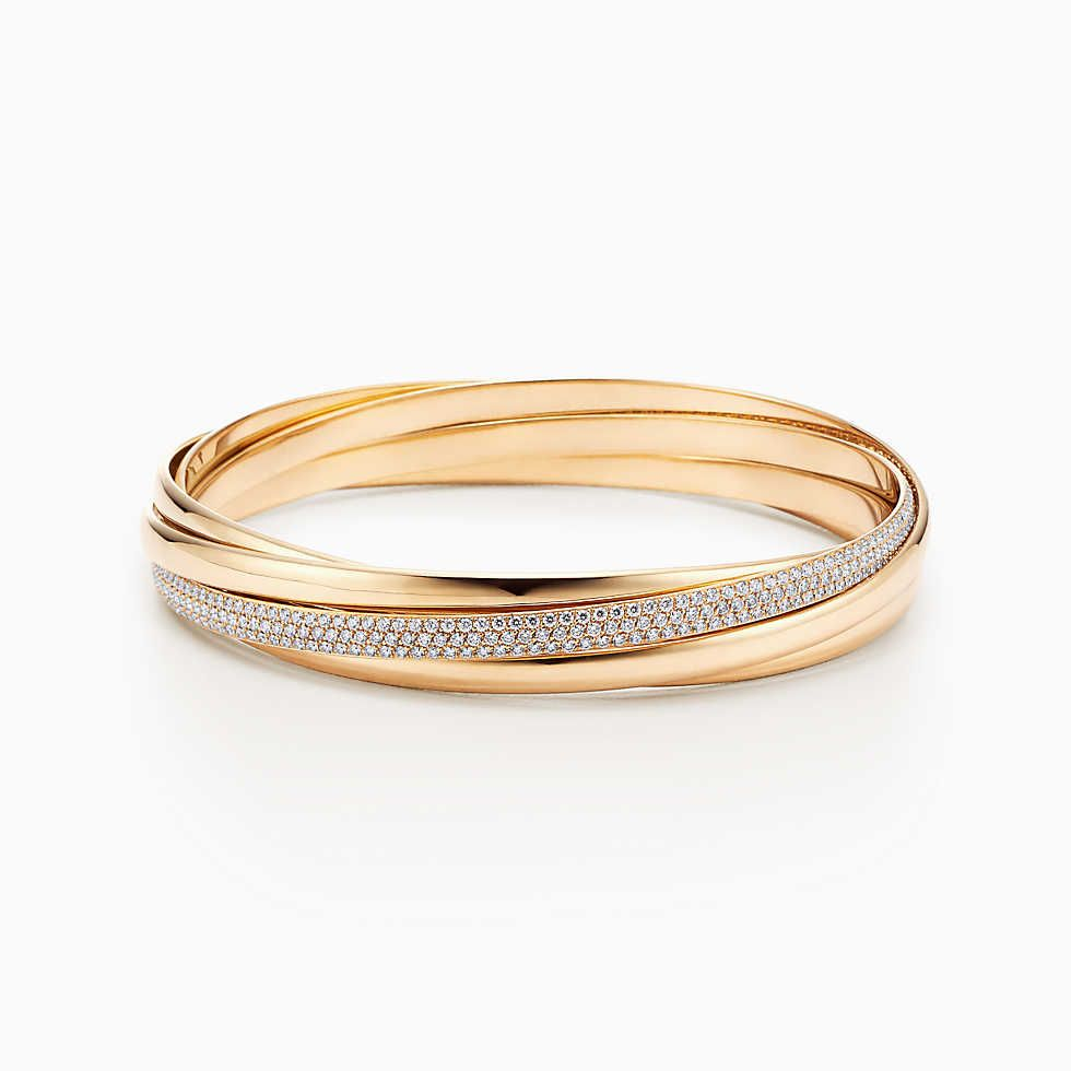 b10d5b34a Paloma's Melody five-band bangle in 18k white gold with diamonds and spinels.    Tiffany & Co.