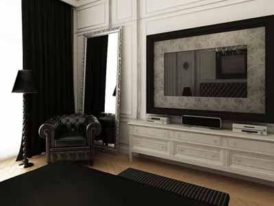 Black-n-White Room Design Ideas, Neutral Modern Interior Color Schemes