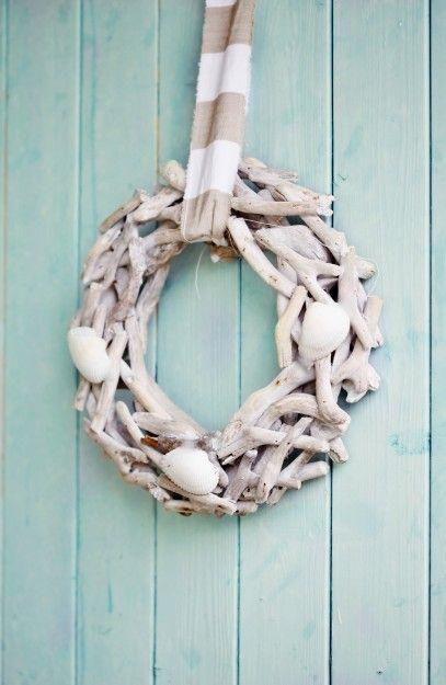 How To Make Beach Cottage Seashell Wreath Nautical Coastal Diy