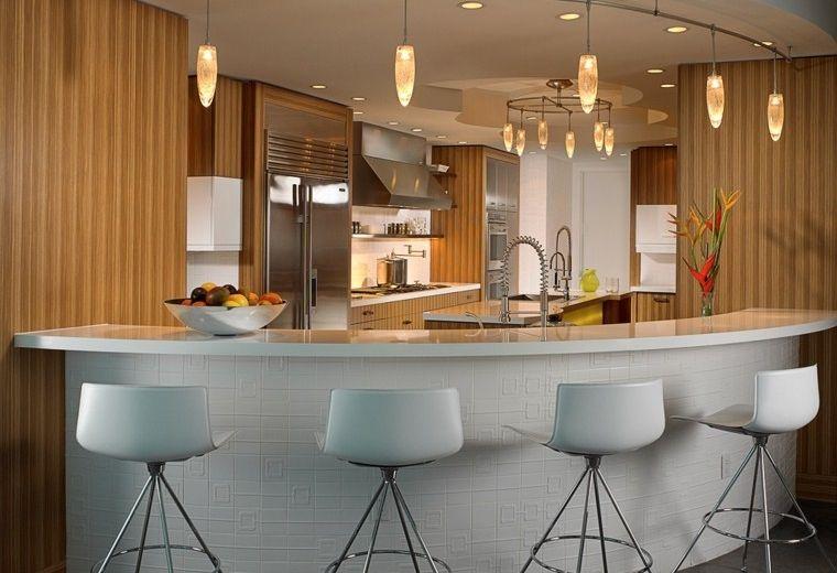 Diseño de cocinas modernas - 100 ejemplos geniales   Diseño   Pinterest