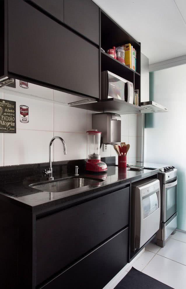119 cozinhas pequenas modernas planejadas e decoradas for Cocinas pequenas decoradas modernas