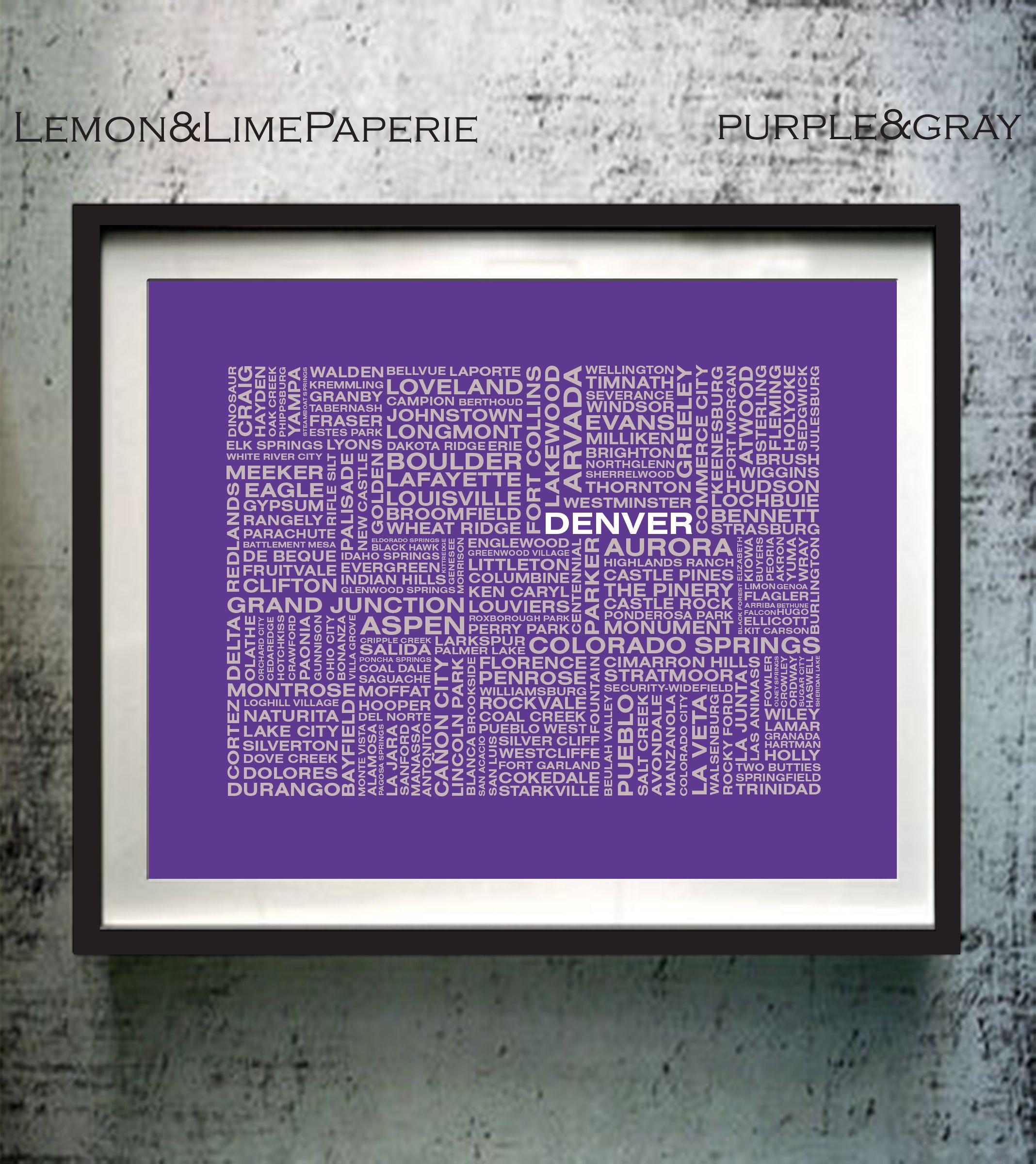 Akron Colorado Map.Colorado Art Print Colorado Typographic Map Coloradotypography Map