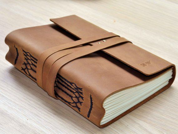 Handmade Leather Journal Personalized Journal Leather Sketchbook