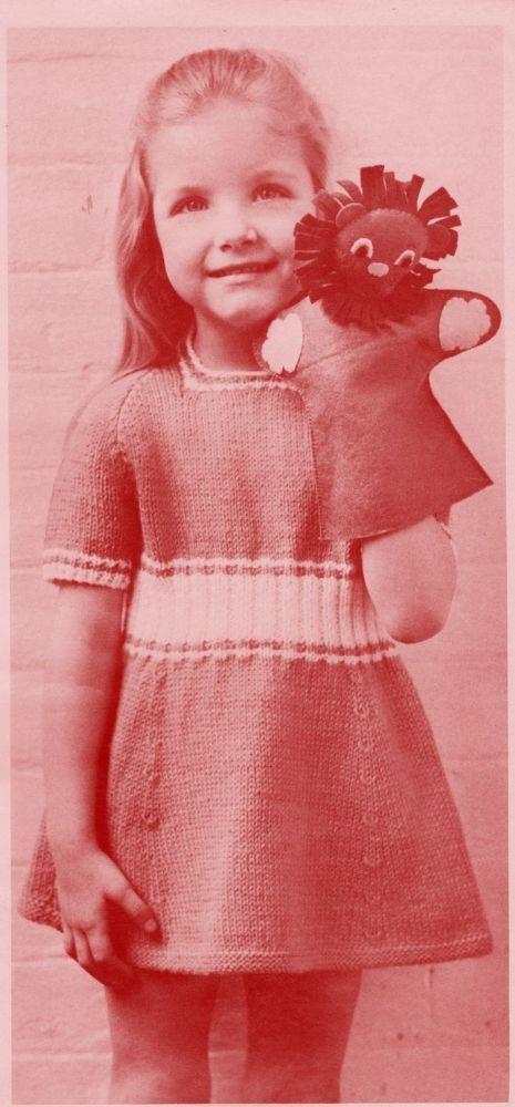 Pdf Digital Download Vintage Knitting Pattern To Make An Easy Baby