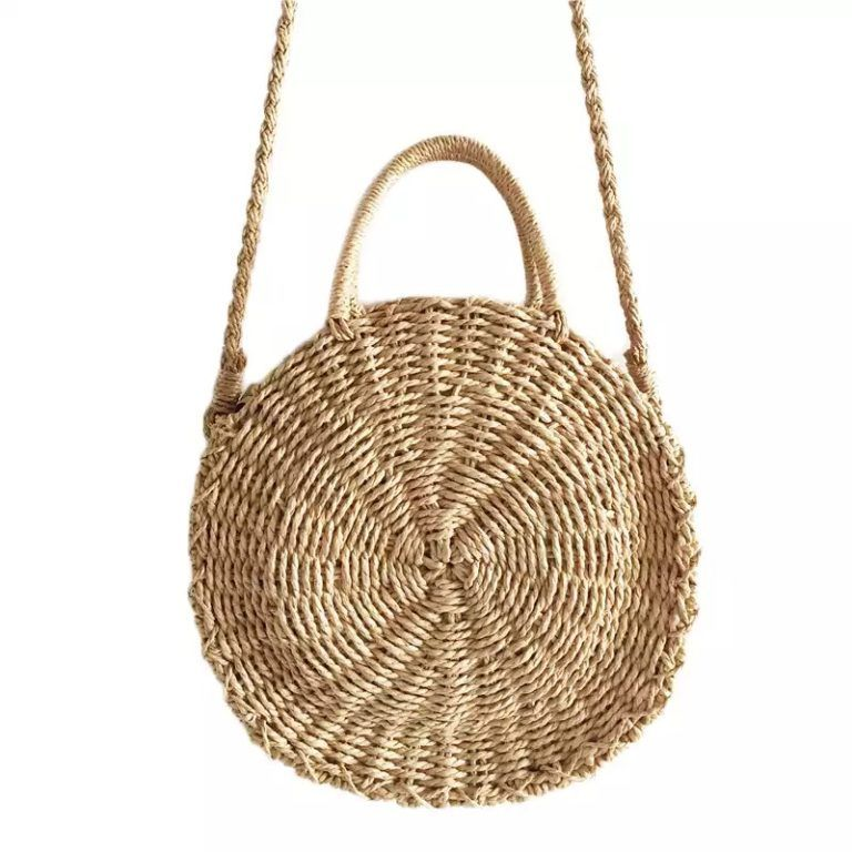 Womens Bali Rattan Bag,Handmade Bohemian Straw Crossbody Bags,Unique Woven Shoulder Bag