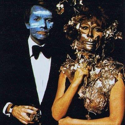 Claude Lebon & Charlotte Aillaud at the Surrealist dinner, 1972