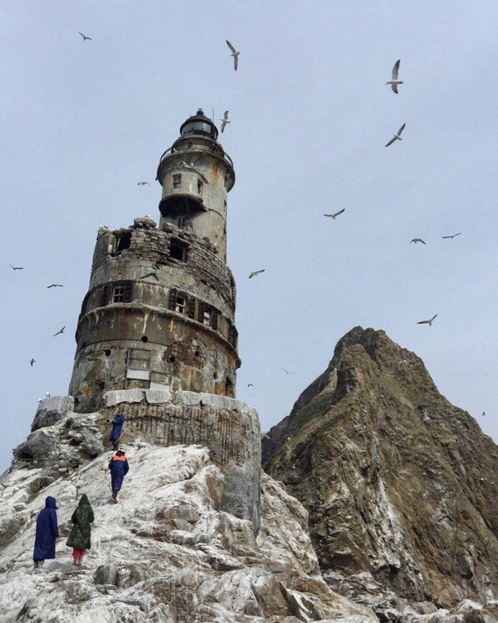 Abandoned Japanese Lighthouse On Russias Sakhalin Island