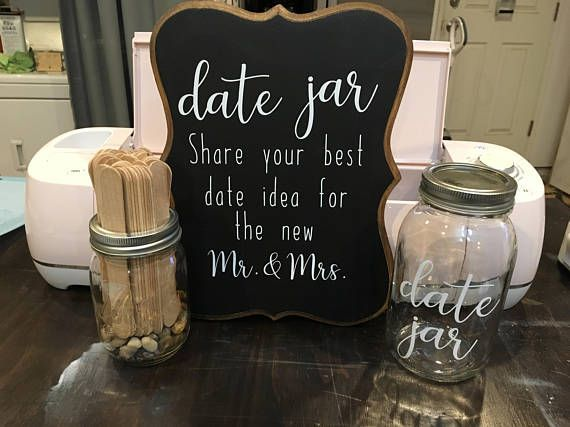 Wedding Date Jar, Wedding or Bridal Shower