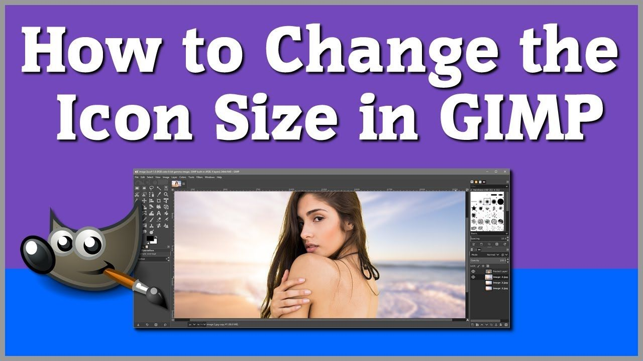 How to change the icon size in gimp make gimp icons