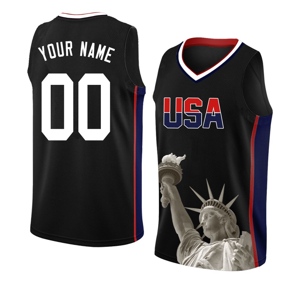 Custom America 1 Basketball Jersey Mesh Personalized Design For Veterans Independence Day Xxs 6xl Jerseys Outfit Jersey Design Black And Navy