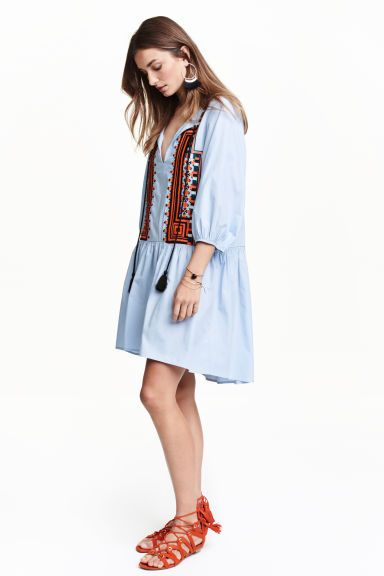 Embroidered cotton dress | H&M