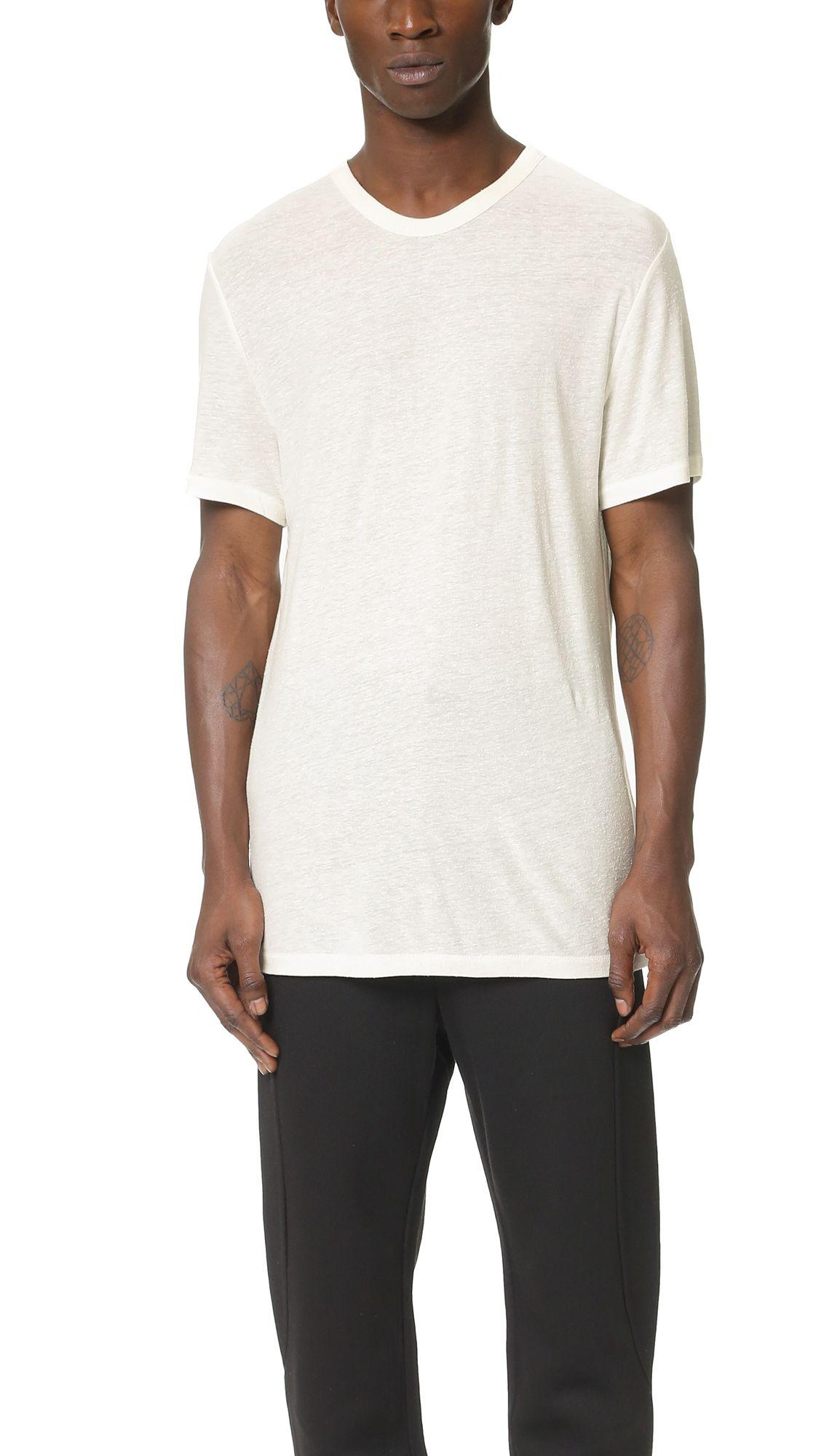4b2ccc1b43364a T BY ALEXANDER WANG Slub Crew Neck T-Shirt. #tbyalexanderwang #cloth #t- shirt