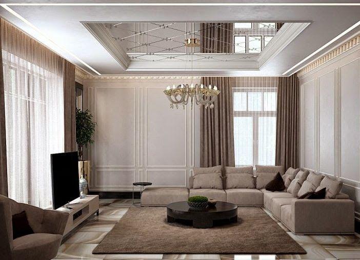 Modern Pop False Ceiling Designs For Living Room Living