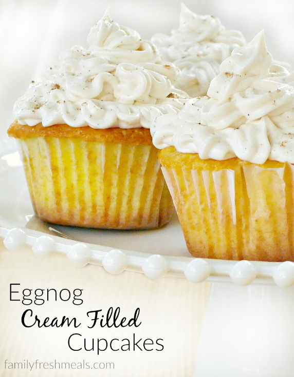 Eggnog Cream Filled Cupcakes Recipe Filled Cupcakes Cream