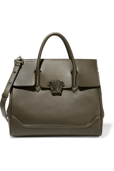dc3088b83d4f VERSACE Leather Shoulder Bag. #versace #bags #shoulder bags #leather. Army- green ...