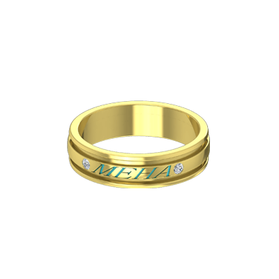 buy gold name rings for both men and women in online at augravcom - Online Wedding Rings