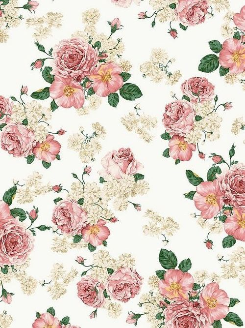 floral print background tumblr