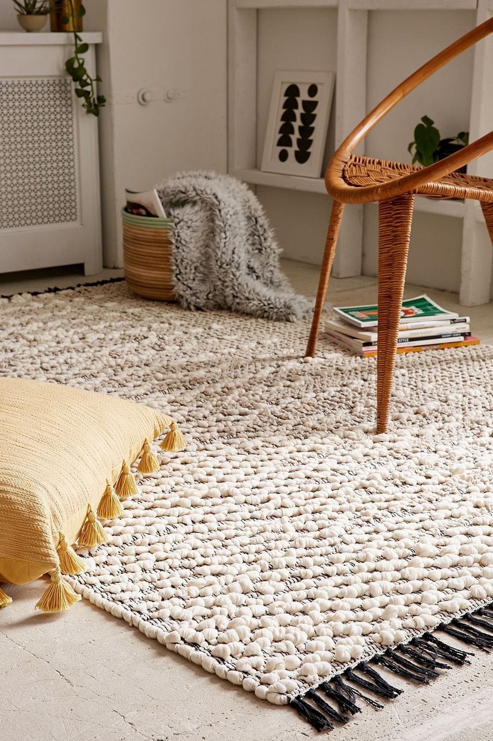 Urban Outfitters Pala Textured Loop Rug 2x3 Urban Outfitters