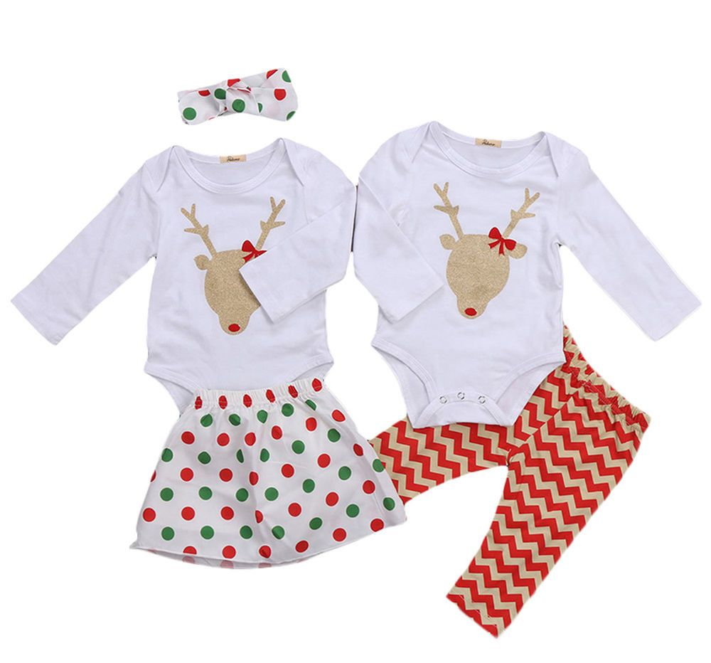 0f450bfcdac5 Matching Baby Boys Girls Christmas Red Nose Reindeer Romper Pajamas Outfit  Set  twin  baby  boys  girls  reindeer  rednose  romper  pajamas  matching    ...