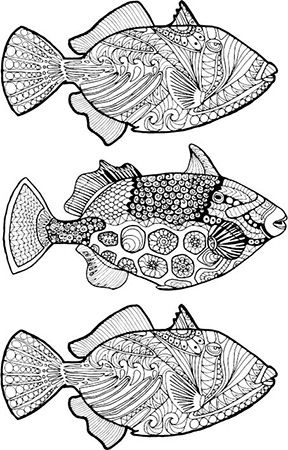 New Illustrations for Adult Coloring | Animales y Cerámica