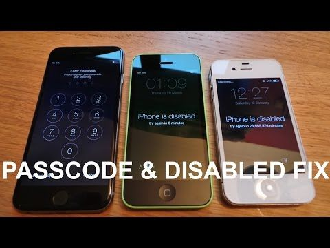 How To Remove Reset Any Disabled Or Password Locked Iphones 6s 6 Plus 5s 5c 5 4s 4 Ipad Or Ipod Unlock My Iphone Unlock Iphone Smartphone Gadget