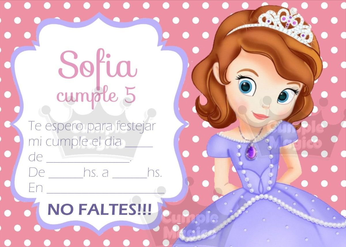 Tarjetas De Cumpleaños Los Angeles Princesa Sofia