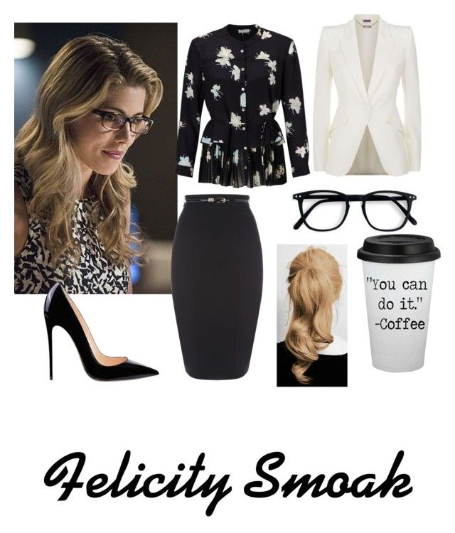 """""""Felicity Smoak"""" by writergirl-879 on Polyvore featuring Alexander McQueen and Marella"""